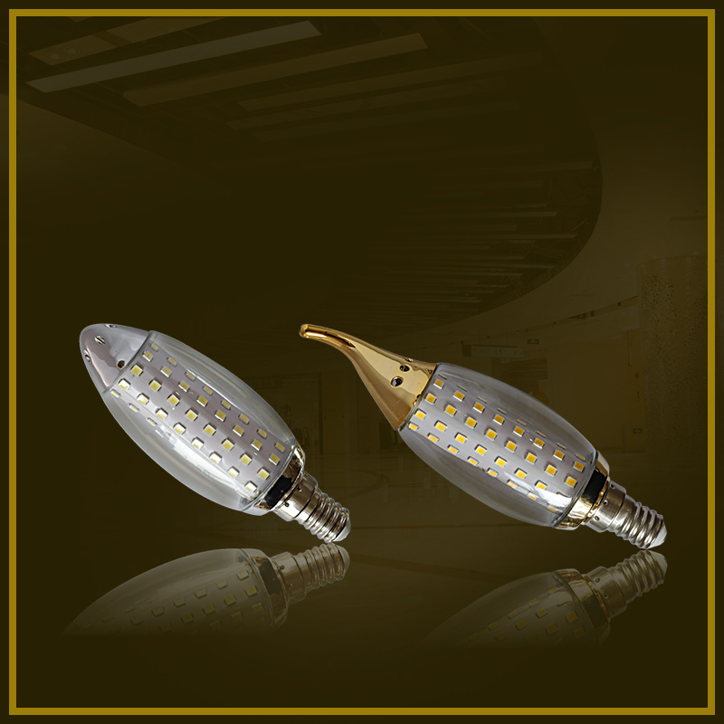 LED fluorescent lamp - gold diamond without shadow bubble